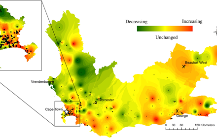 Western Cape Province, South Africa A Retrospective Spatiotemporal Analysis