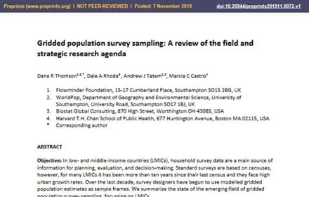 Gridded Pop Survey Sampling COVER